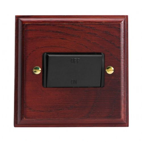 Varilight XKFIMB Kilnwood Mahogany 1 Gang 10A Fan Isolating Switch (3 Pole)